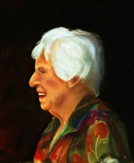 """Grandma Noo"" - pastel on paper, 400 x 200, SOLD"